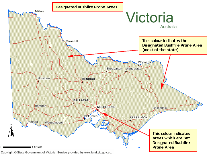 Designated Bushfire Prone Area Map state map